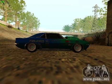 Chevrolet Camaro z28 Falken edition para la visión correcta GTA San Andreas