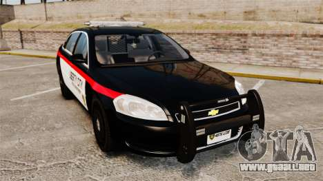 Chevrolet Impala 2008 LCPD STL-K Force [ELS] para GTA 4
