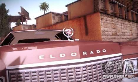 Cadillac Eldorado 1978 Coupe para la vista superior GTA San Andreas