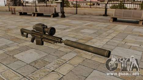 Rifle de francotirador Barrett M82A1 con silenci para GTA 4
