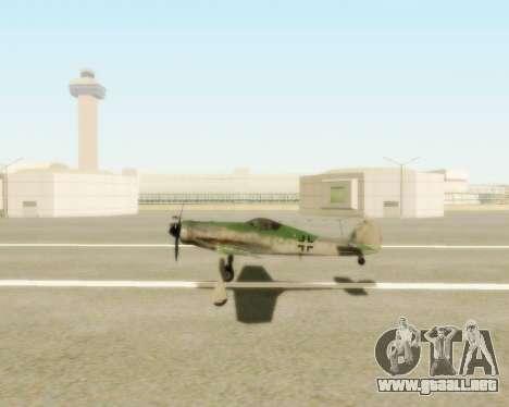 Focke-Wulf FW-190 D12 para la visión correcta GTA San Andreas
