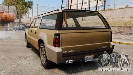 GTA V Declasse Granger 3500LX para GTA 4 Vista posterior izquierda