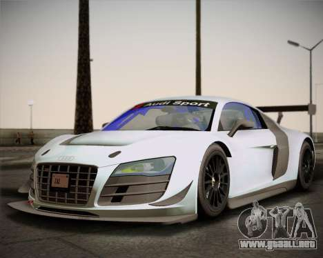 Audi R8 LMS Ultra v1.0.1 DR para GTA San Andreas left