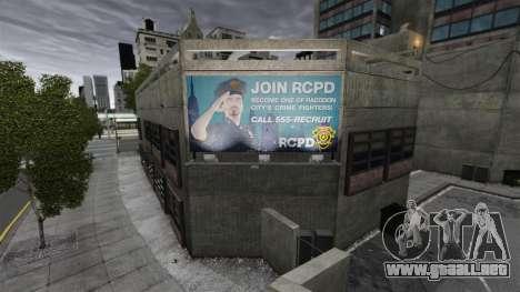 Estación de policía, mapache para GTA 4 tercera pantalla
