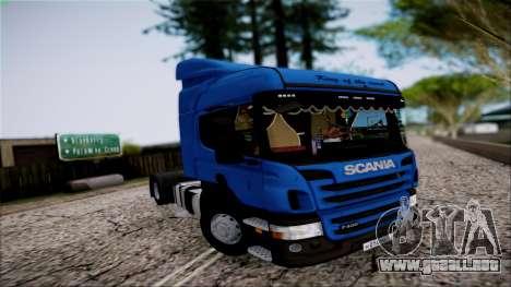 Scania P400 para visión interna GTA San Andreas