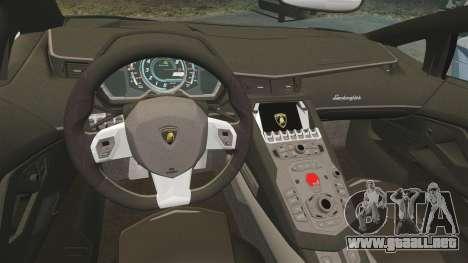 Lamborghini Aventador LP760-4 Oakley Edition v2 para GTA 4 vista interior