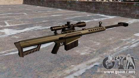Rifle de francotirador Barrett M82A1 luz cincuen para GTA 4 segundos de pantalla