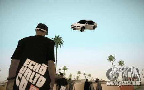 Congelación de coche en aire para GTA San Andreas tercera pantalla
