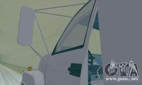 GMC C550 Topkick Trashmaster para visión interna GTA San Andreas