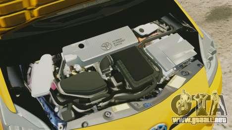 Toyota Prius 2011 Warsaw Taxi v2 para GTA 4 vista interior