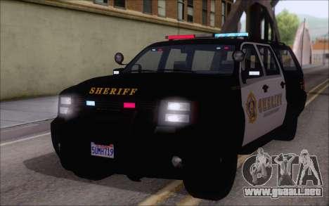 Un jeep de la policía de GTA V para GTA San Andreas