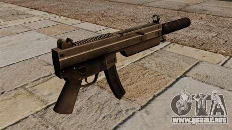 La metralleta MP5 con silenciador para GTA 4 segundos de pantalla