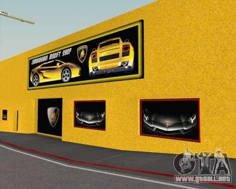 Lamborghini Dealer San Fierro para GTA San Andreas sexta pantalla