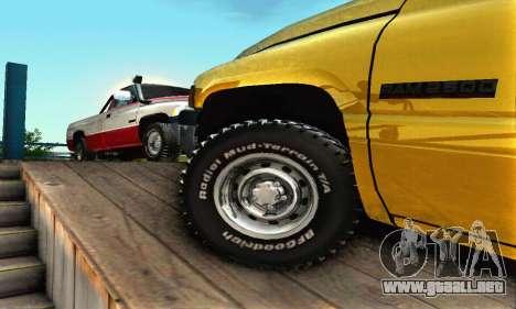 Dodge Ram 2500 para la vista superior GTA San Andreas
