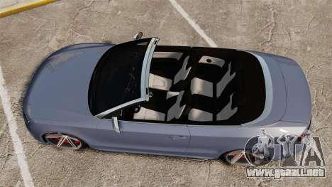 Audi S5 Convertible 2012 para GTA 4 visión correcta