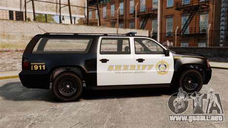 GTA V Declasse Granger Sheriff para GTA 4 left