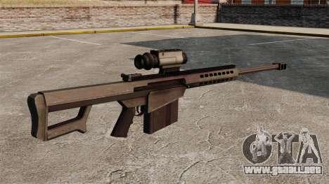 Rifle de francotirador Barrett M107 para GTA 4 segundos de pantalla