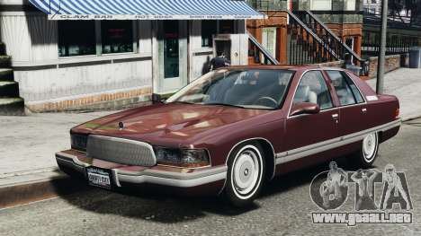 Buick Roadmaster 1996 para GTA 4 left