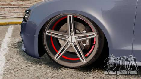 Audi S5 Convertible 2012 para GTA 4 vista interior
