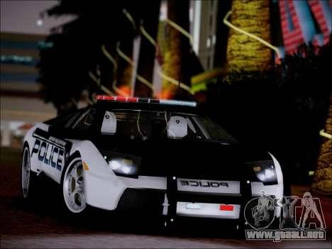 Lamborghini Murciélago policía 2005 para la visión correcta GTA San Andreas
