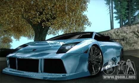 Lamborghini Murcielago GT Coloured para vista inferior GTA San Andreas
