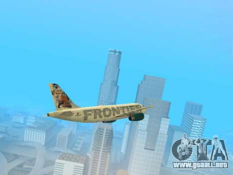 Airbus A319-111 Frontier Airlines Red Foxy para vista lateral GTA San Andreas