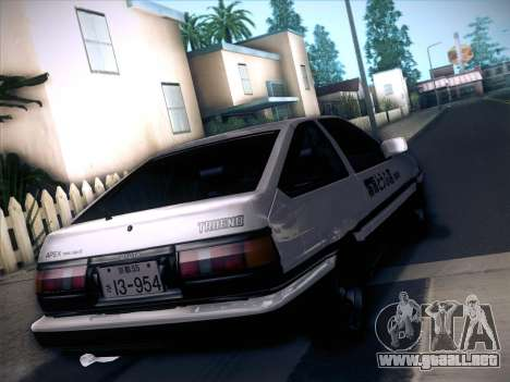 Toyota Trueno AE86 Initial D 4th Stage para GTA San Andreas left