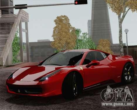 Ferrari 458 Italia 2010 para GTA San Andreas