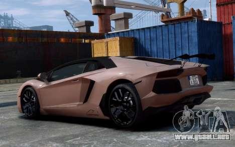 Lamborghini Aventador LP760-4 Oakley Design para GTA 4 vista hacia atrás