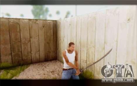 Hoja de ebonita para GTA San Andreas tercera pantalla