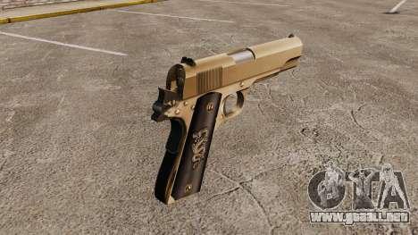 V2 pistola Colt M1911 para GTA 4 segundos de pantalla
