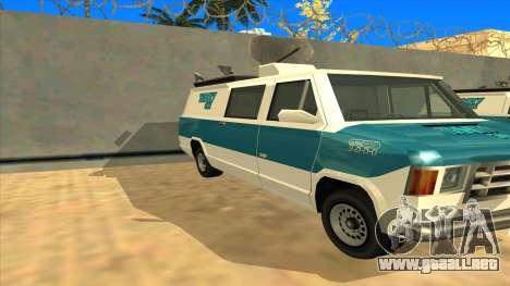 News Van HQ para GTA San Andreas left