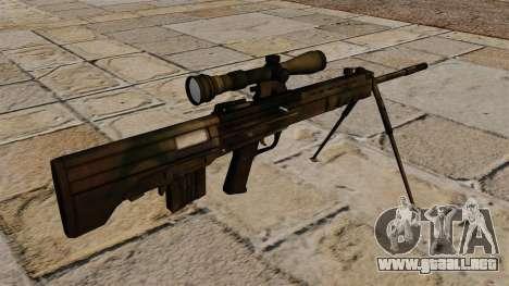 Rifle de francotirador QBU-88 para GTA 4 segundos de pantalla