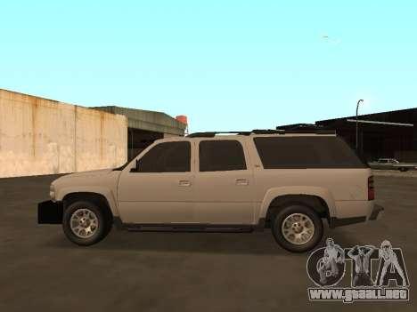Chevrolet Suburban ATTF para GTA San Andreas left
