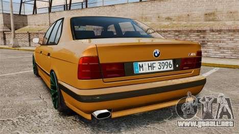 BMW M5 1995 para GTA 4 Vista posterior izquierda