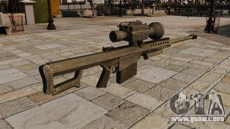 El rifle de francotirador Barrett M82 para GTA 4 segundos de pantalla