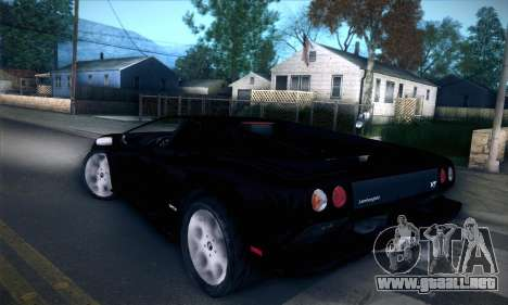 Lamborghini Diablo VT6.0 para GTA San Andreas vista hacia atrás