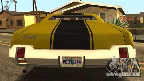 Sabre HD from GTA 3 para la visión correcta GTA San Andreas