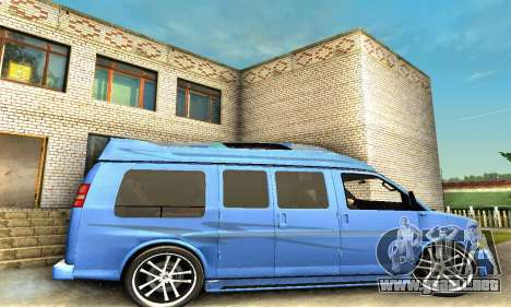 GMC Savana para la vista superior GTA San Andreas