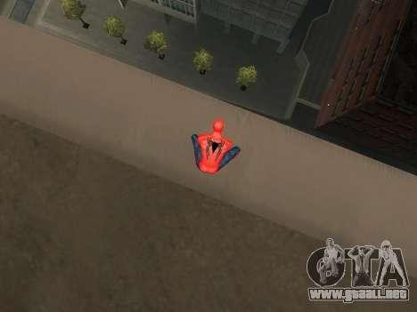 Se agacha como el asombroso Spider-man para GTA San Andreas segunda pantalla