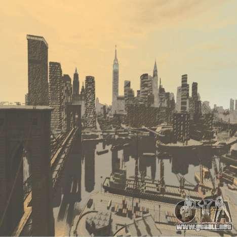 Pantalla de arranque de color para GTA 4 adelante de pantalla