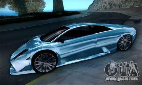 Lamborghini Murcielago GT Coloured para GTA San Andreas vista hacia atrás