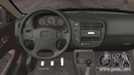 Honda Civic Si 1999 Coupe para GTA San Andreas vista hacia atrás