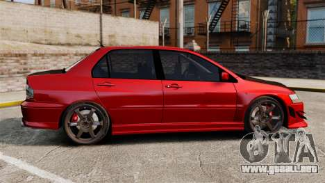 Mitsubitsi Lancer MR Evolution VIII 2004 Tuning para GTA 4 left