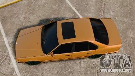 BMW M5 1995 para GTA 4 visión correcta