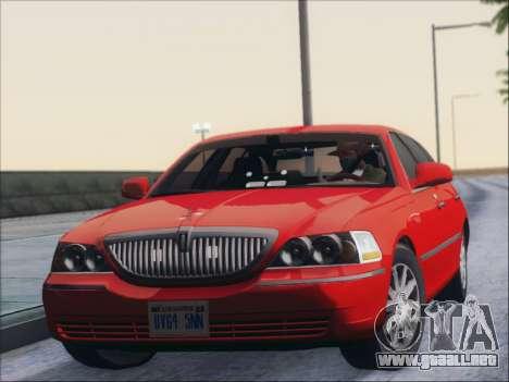 Lincoln Town Car 2010 para GTA San Andreas left