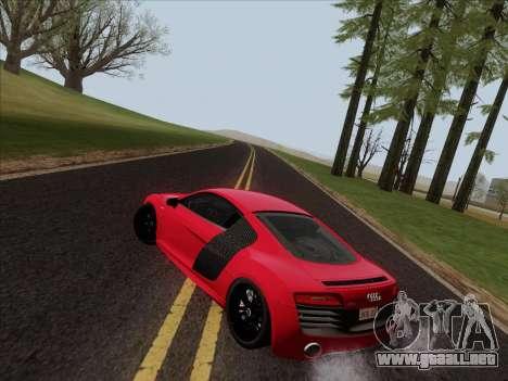 Audi R8 V10 Plus para vista inferior GTA San Andreas