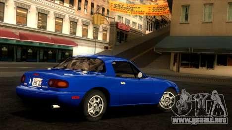 Mazda MX-5 Miata (NA) 1989 para GTA San Andreas left
