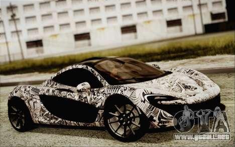 McLaren P1 2014 v2 para GTA San Andreas vista posterior izquierda