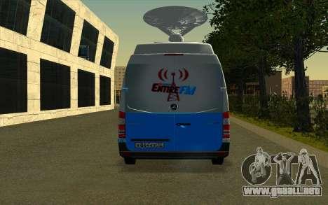 Mercedes Sprinter Entire FM para la visión correcta GTA San Andreas